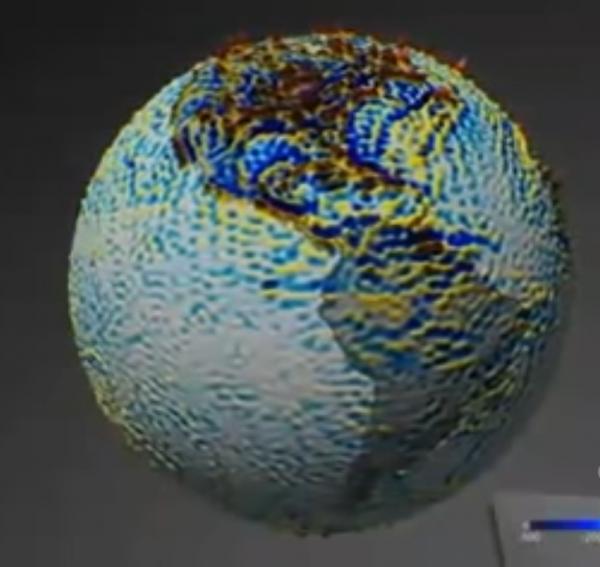 ЕКА представило уникальную карту аномалии магнитного поля Земли