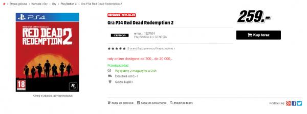 Польское издание сообщило дату релиза Red Dead Redemption 2