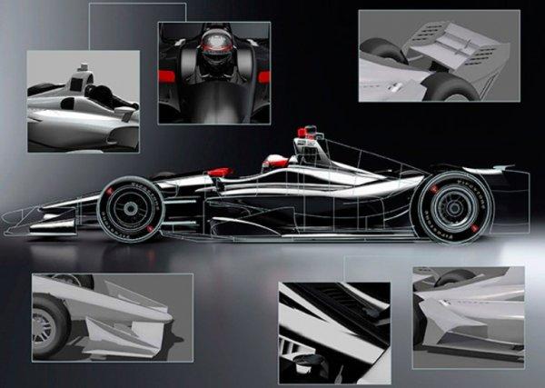 В сети появились первые изображения автомобилей для IndyCar 2018 года