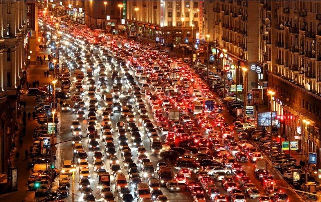 что московские пробки фото таком