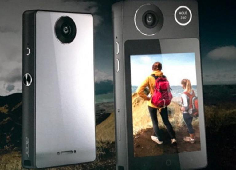 Acer анонсировала VR-камеру Holo 360 споддержкой мобильной связи