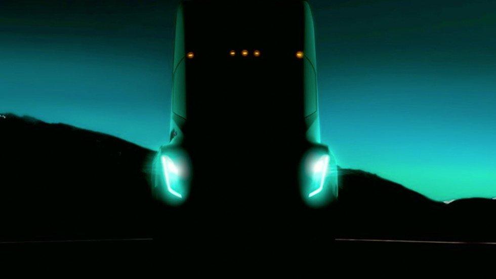 Tesla показала 1-ый тизер своего электрического грузового автомобиля