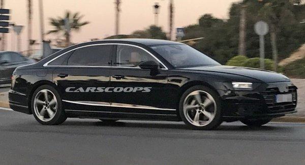 Новый седан Audi A8 сфотографировали без камуфляжа