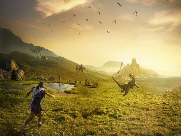Учёные: Динозавры могли жить вместе с древними людьми
