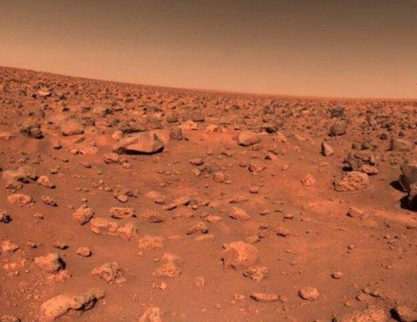 На  поверхности Марса нашли лист бумаги