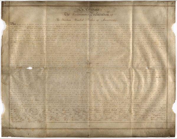 Ученые обнаружили в Британии вторую копию Декларации независимости США