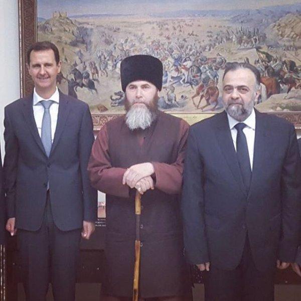 Кадыров: Муфтий Чечни встретился с Асадом в Дамаске