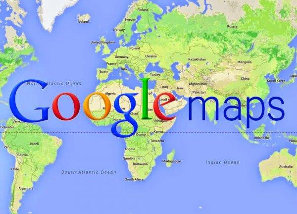 Google Maps автоматически переведет названия иностранных городов