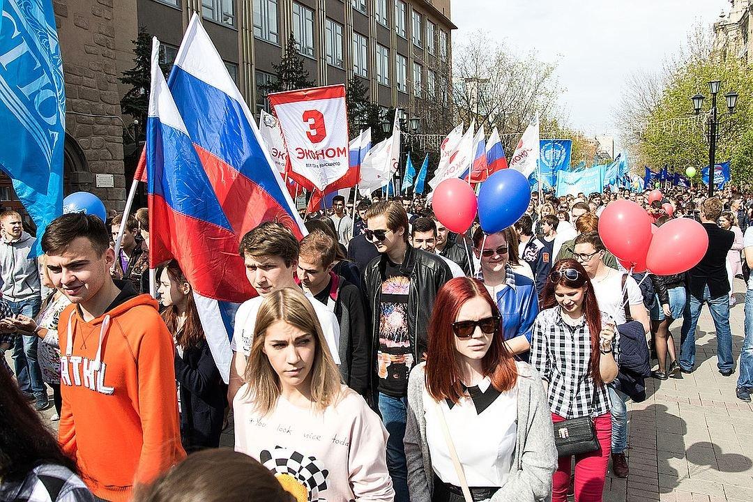 Впервомайском шествии вСаратове приняли участие 10 тыс. человек