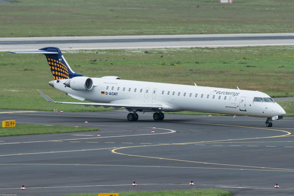 Ваэропорту Мюнхена самолет задымился перед взлетом