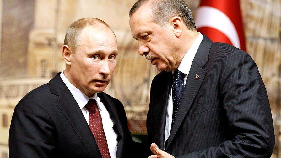ВКремле назвали темы предстоящих переговоров Владимира Путина иЭрдогана