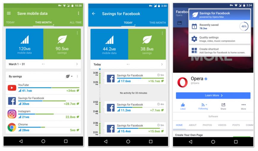 Opera Max 3.0 стала доступна наустройствах с андроид