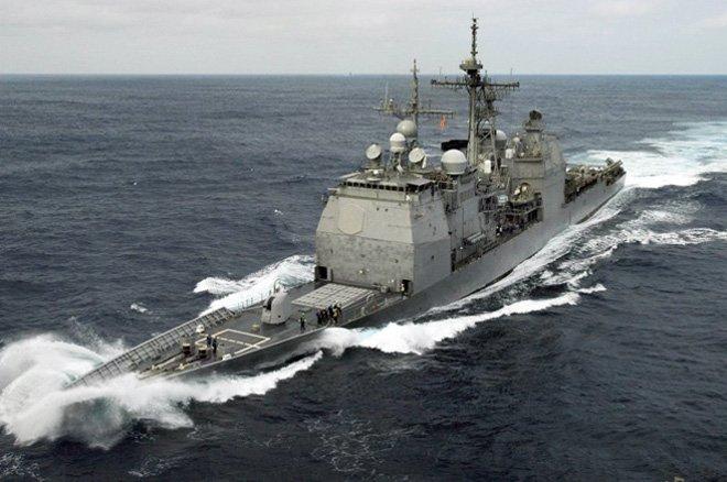 Военный корабль США столкнулся срыболовным судном Южной Кореи
