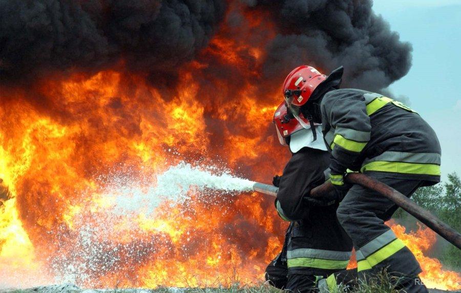 Натерритории Октябрьского городка произошел пожар
