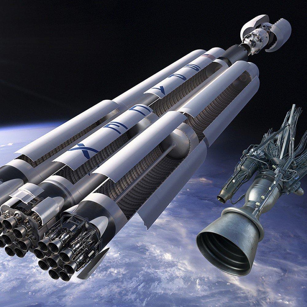SpaceX начала испытывать ракеты тяжелого класса Falcon Heavy