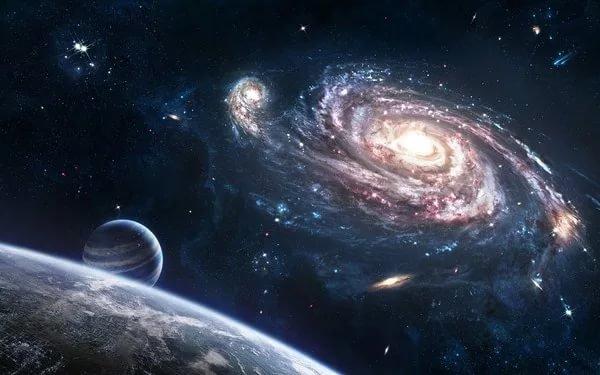 Объединение галактик имеет связь счерными дырами