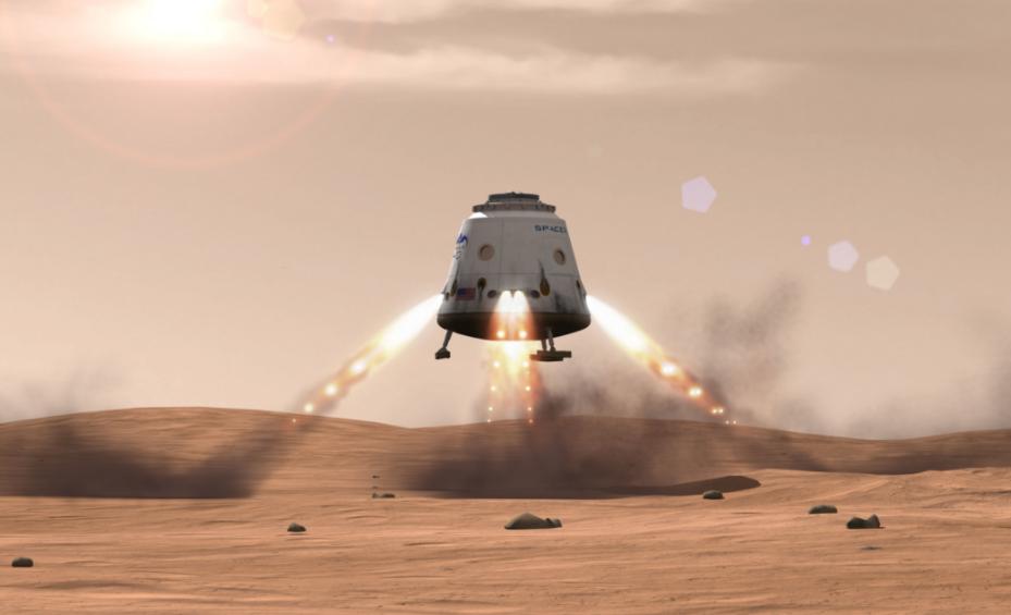 SpaceX отправит кМарсу два корабля Red Dragon в 2020