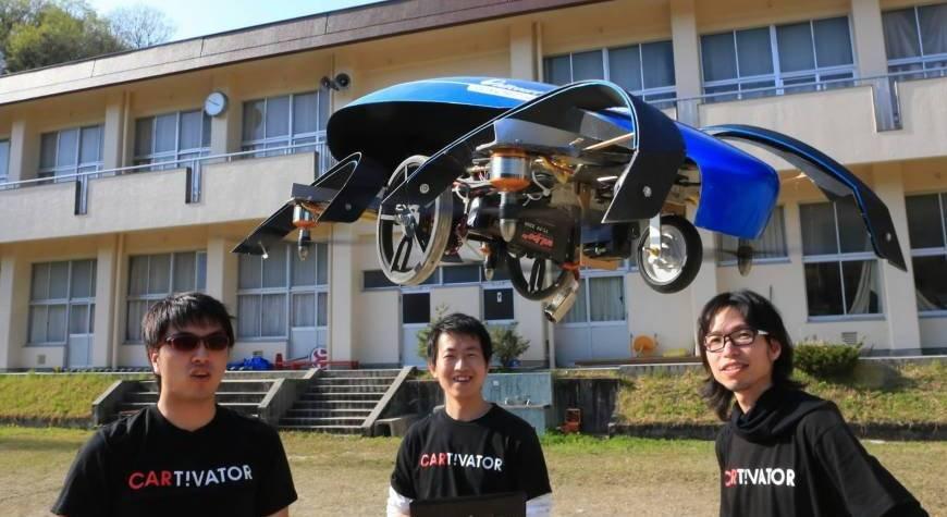ВЯпонии разрабатывают собственный летающий автомобиль