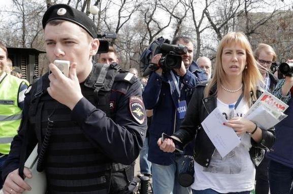 Марию Баронову оштрафовали заакцию «Открытой России» «Надоел»