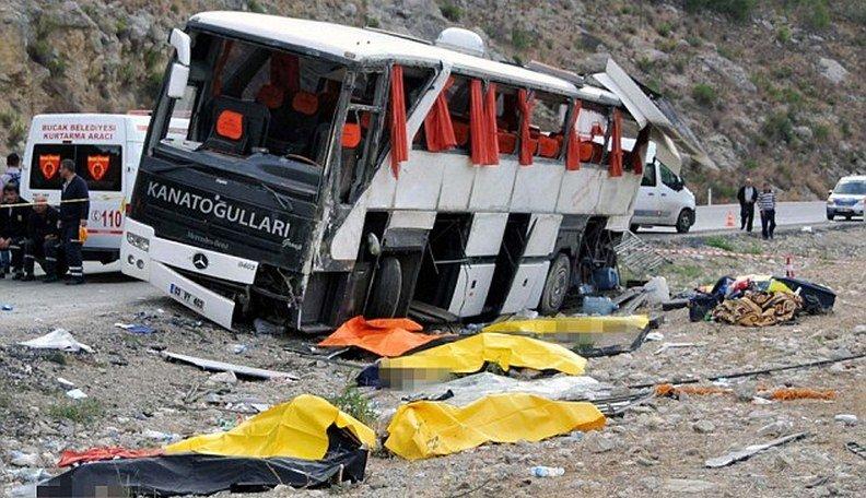 ВТурции попал вДТП автобус сполитиками