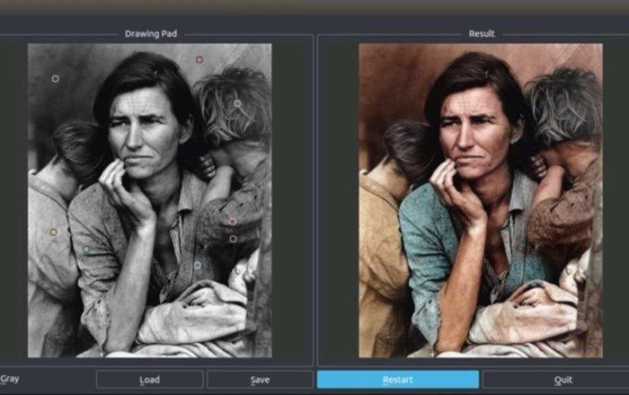 Нейронная сеть помогла человеку быстро раскрашивать черно-белые фотографии