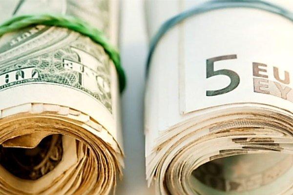 Руб. сначала дня растет кевро иснижается кдоллару