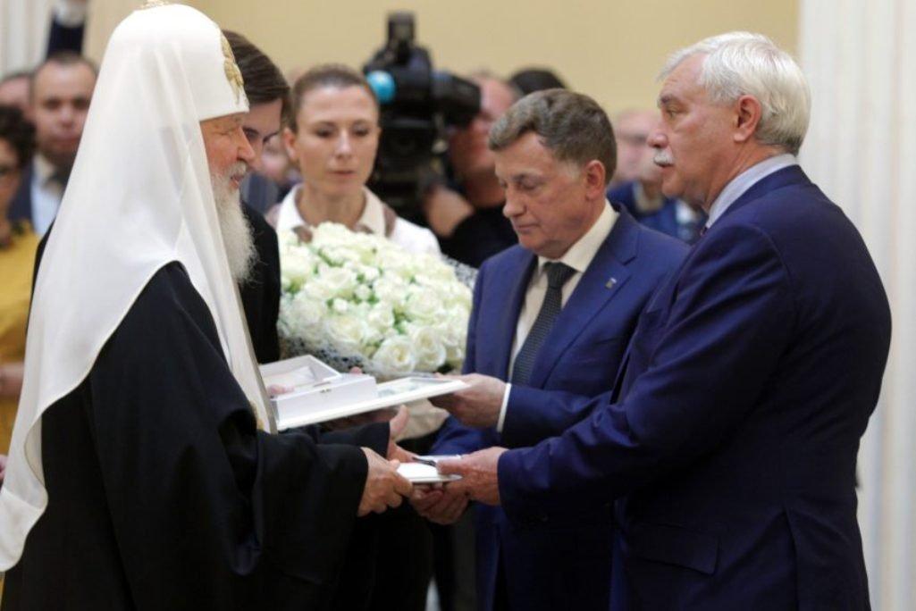 Знаки отличия получат почетные петербуржцы Матвиенко ипатриарх Кирилл