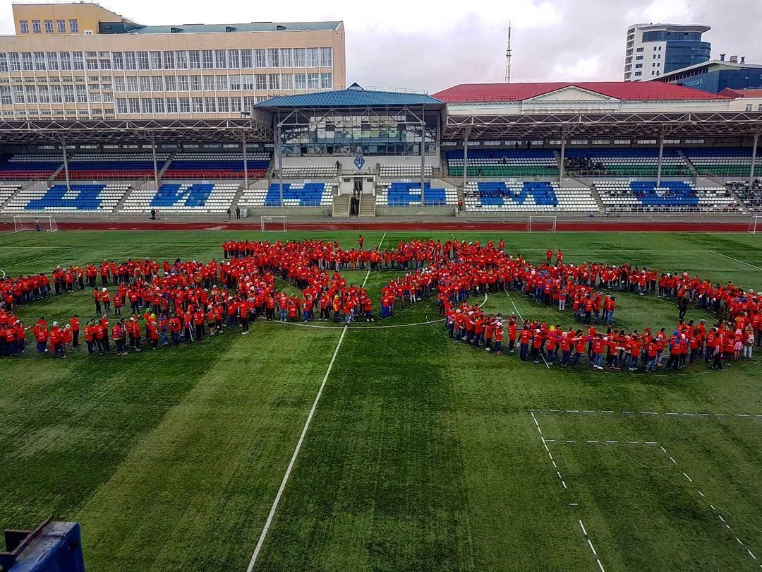 Уфа побила мировой рекорд поизображению самого огромного велосипеда