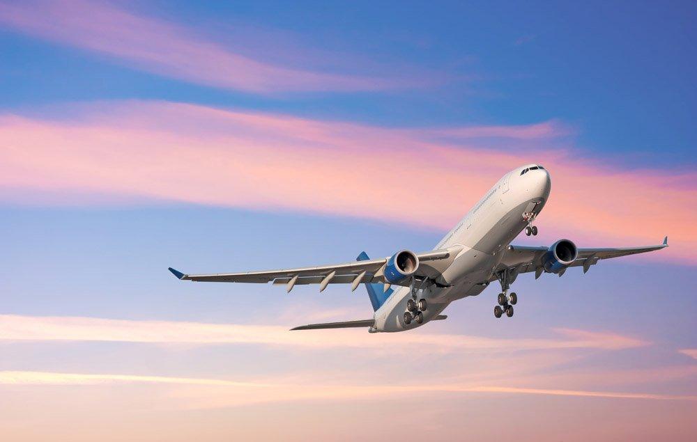 Картинка как летают самолеты