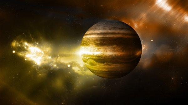 NASA опубликовало фото «акварельных штормов» на Юпитере