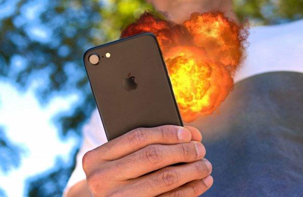 Новенький iPhone 7 взорвался в руках британца