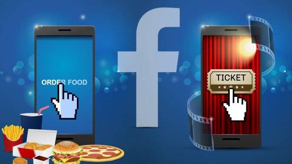 Facebook внедряет функцию Order Food для заказа еды из ресторанов