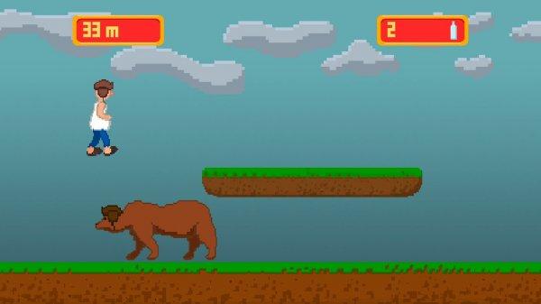 В Steam вышла игра про прыгающего через медведей «русского алкоголика»