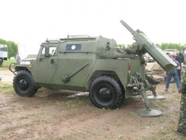 В сети опубликованы снимки бронемашины «Тигр-М» со 120-мм миномётом