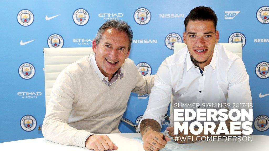 Эдерсон перешел в«Манчестер Сити»