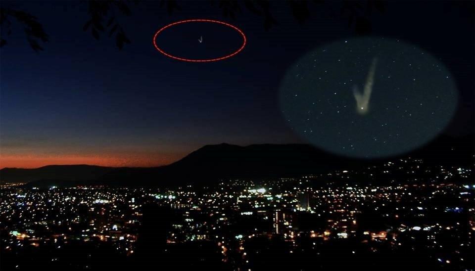 Внебе над Чили замечен тайный НЛО