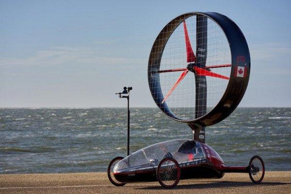 """Канадские студенты продемонстрировали доработанный вариант """"ветряного"""" автомобиля Chinook ETS"""