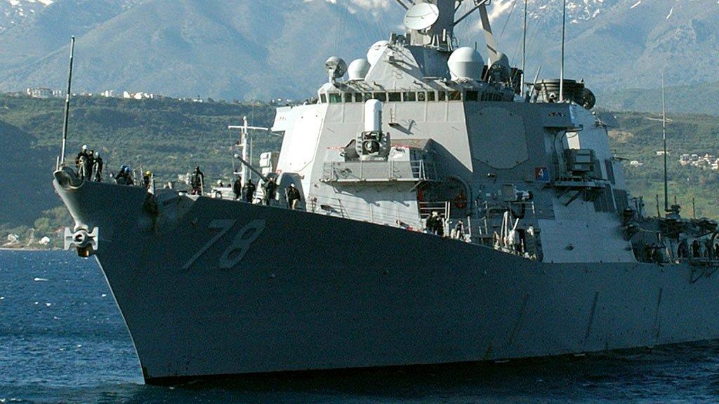 Эсминец США поломал  машинное отделение ирадиорубку при столкновении около  Японии
