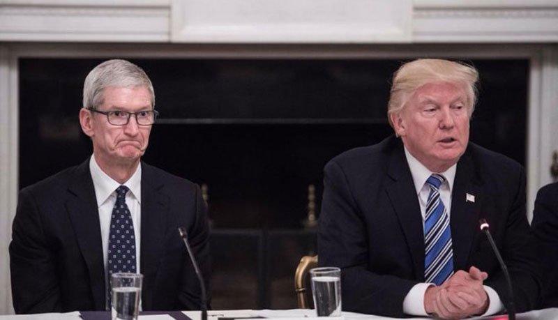 Вглобальной web-сети  высмеяли высказывание  лица руководителя  Apple навстрече сТрампом
