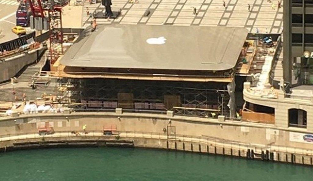 Крыша нового магазина Apple вЧикаго будет напоминать немалый MacBook