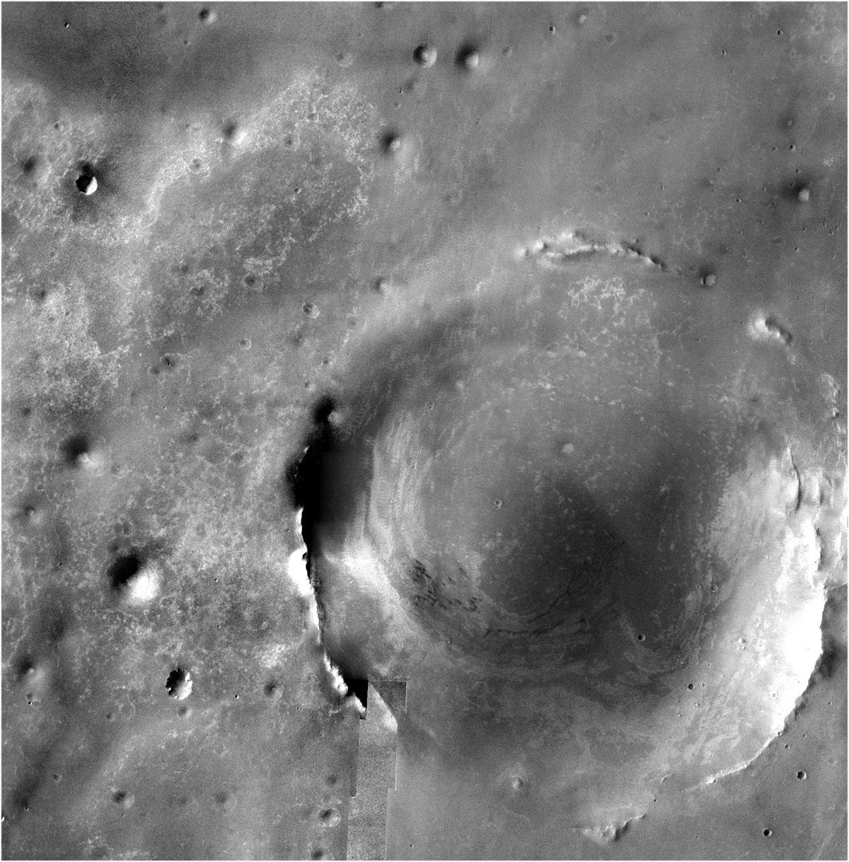 NASA начало детальное исследование водного кратера Индевор наМарсе