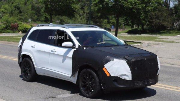 На тестах был замечен прототип Jeep Cherokee с серийной оптикой
