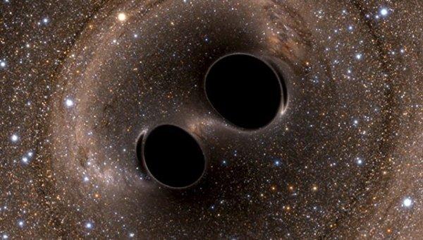Ученые увидели, как черные дыры вращаются вокруг друг друга