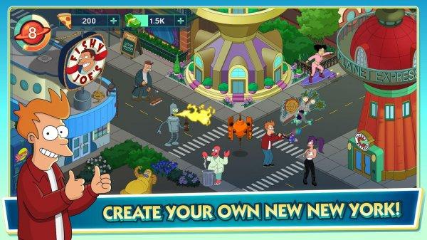Вышло мобильное приложение Futurama: Worlds of Tomorrow