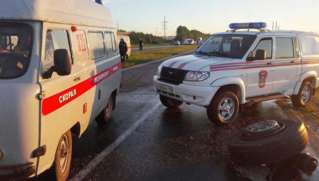 Изсгоревшего вТатарстане автобуса начали доставать тела пассажиров