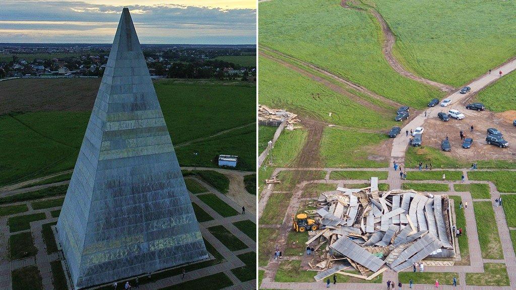 Восстановлена пирамида Голода наНоворижском шоссе