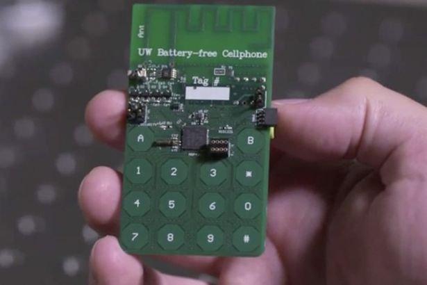 Ученые из США изобрели сотовый телефон, работающий без аккумулятора