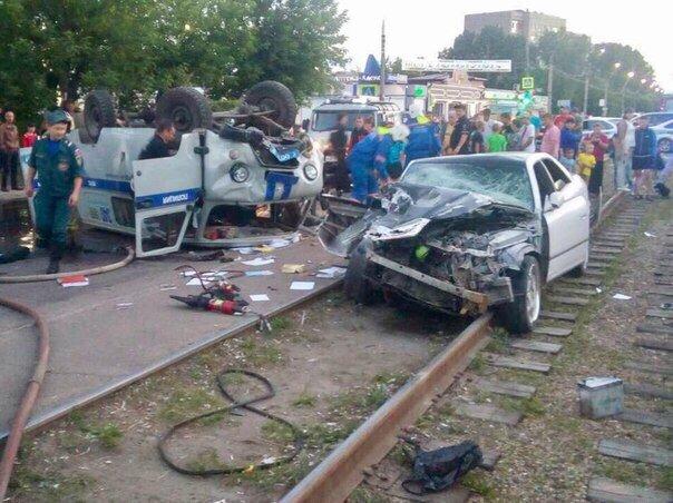 Под Иркутском лихач на Тойота  сбил полицейского, уходя отпогони