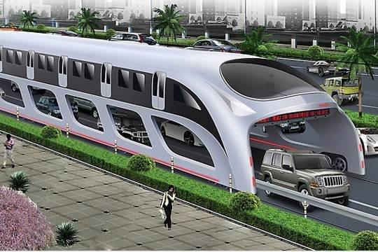 Китайский антипробочный автобус оказался аферой