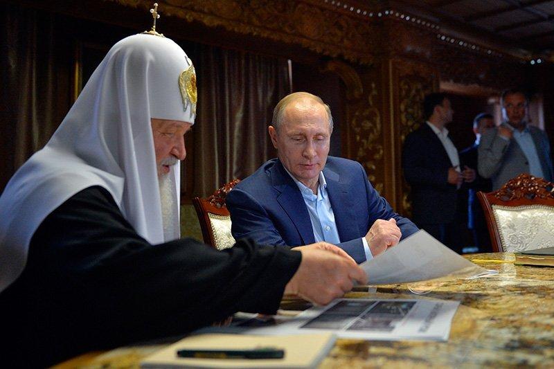Вкрасной сумке В.Путина лежала икона— РПЦ